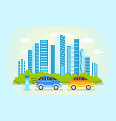 flat modern city icon concept vector image