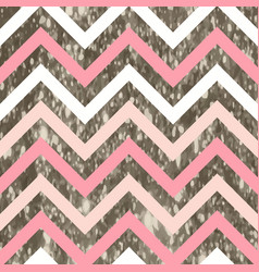 Glitter zigzag pattern with sparkly silver effect vector