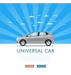 Gray universal citycar vector