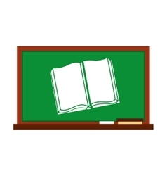 Greenboard with school icon vector