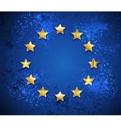 Grunge European Union Symbol vector