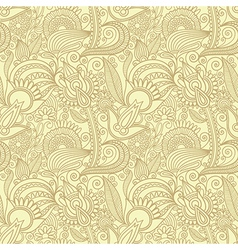 Hand draw ornate seamless pattern background vector