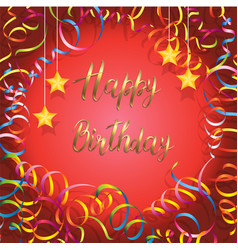 happy birthday card with handmade letters vector image