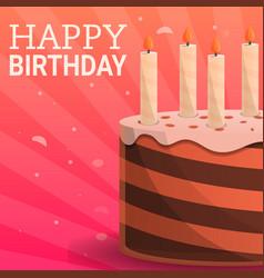 happy birthday party concept background cartoon vector image