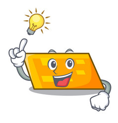 have an idea parallelogram mascot cartoon style vector image