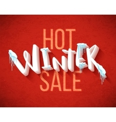Hot winter sale vector image