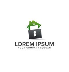 house with keyhole logo real estate logo design vector image