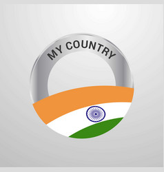 India my country flag badge vector