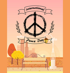 International peace day autumn vector