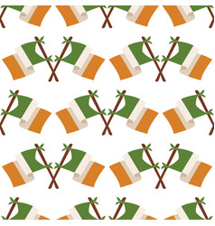 Irish flag seamless pattern vector