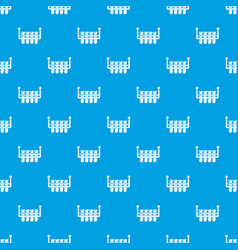 laboratory flask pattern seamless blue vector image