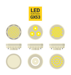 led light gx53 bulbs colorful icon set vector image