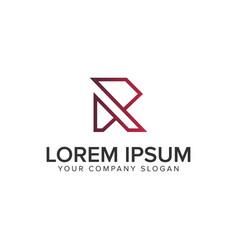 letter r line logo design concept template vector image