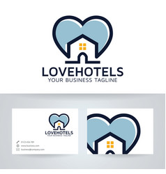 love hotel logo design vector image