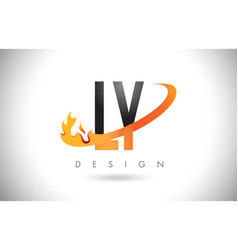 ly l y letter logo with fire flames design and vector image