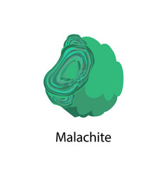Malachite copper carbonate hydroxid mineral vector
