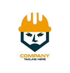 Modern builder and architect in a construction vector