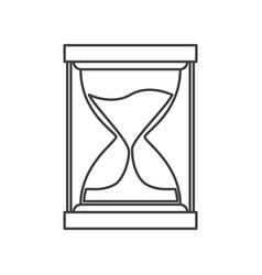 Monochrome silhouette of sand clock icon vector