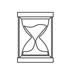 monochrome silhouette of sand clock icon vector image