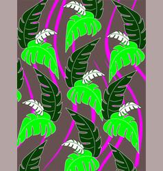 Monster leaves vector