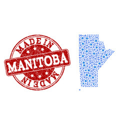 Mosaic map of manitoba province with cog links and vector