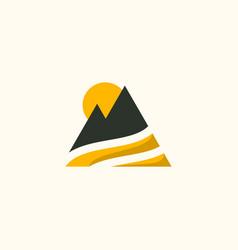 Mountain travailing pacific creative business logo vector