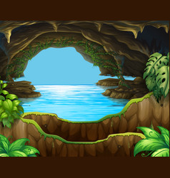 natural water in cave vector image