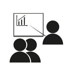 office workers at meeting sign vector image