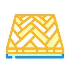 Parquet floor color icon vector