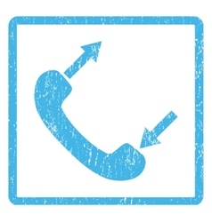 Phone Talking Icon Rubber Stamp vector