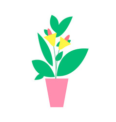 plant with flower poster vector image