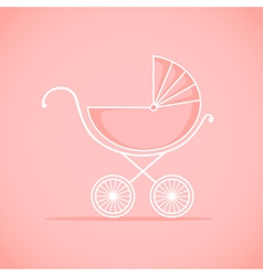 Pram for baby vector image