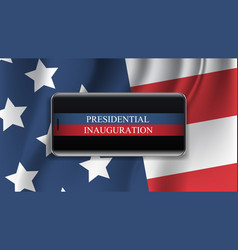 presidential inauguration day celebration concept vector image