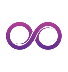 Purple infinity symbol icons unlimited limitless vector