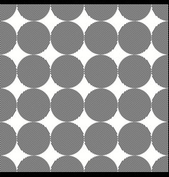 seamless grey and white joined circles pattern vector image