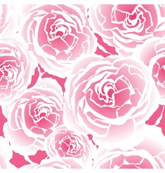 Seamless Pink Floral Pattern with Roses vector image vector image