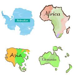 Set world maps vector