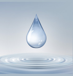Shiny water drop vector