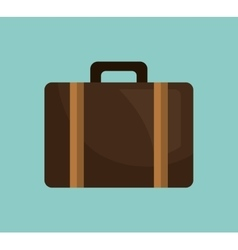 Suitcase bag briefcase icon vector
