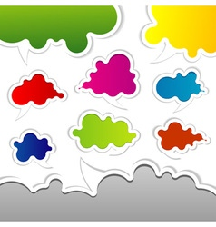 template speak bubbles vector image