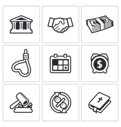 The consequences of the credit icons vector