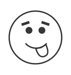 Tongue out emoticon icon vector