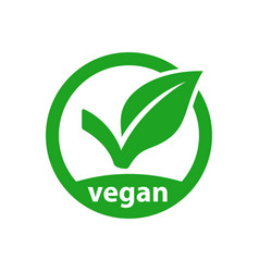 vegan icon product image vector image
