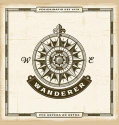 vintage wanderer label vector image