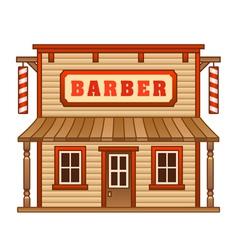 Wild west barber shop vector