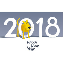 yellow dog 2018 vector image