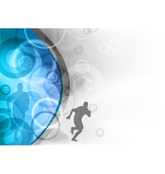 blue background with the runner vector image vector image