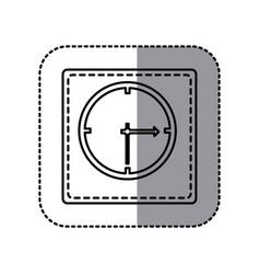 figure emblem sticker clock icon vector image vector image