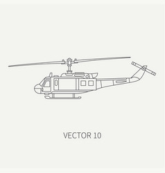 line flat icon military turboprop vector image vector image