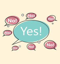 no yes comic bubble vector image